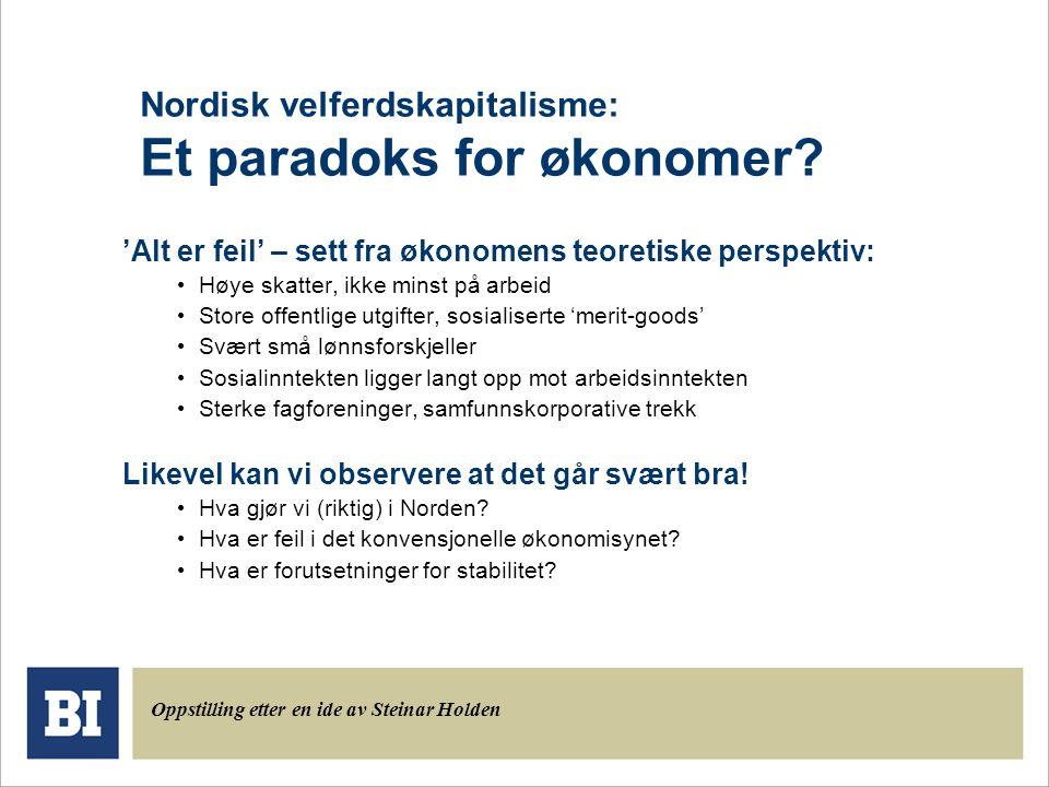 Nordisk velferdskapitalisme: Et paradoks for økonomer.