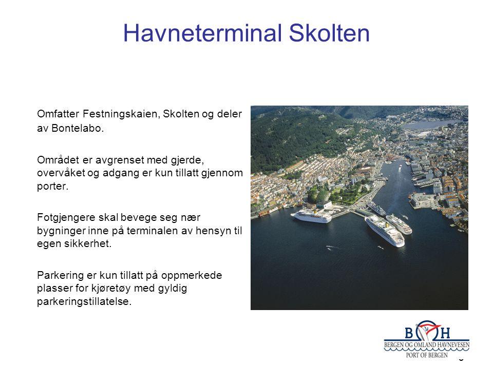8 Havneterminal Skolten Omfatter Festningskaien, Skolten og deler av Bontelabo.
