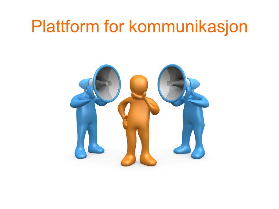 Plattform for kommunikasjon