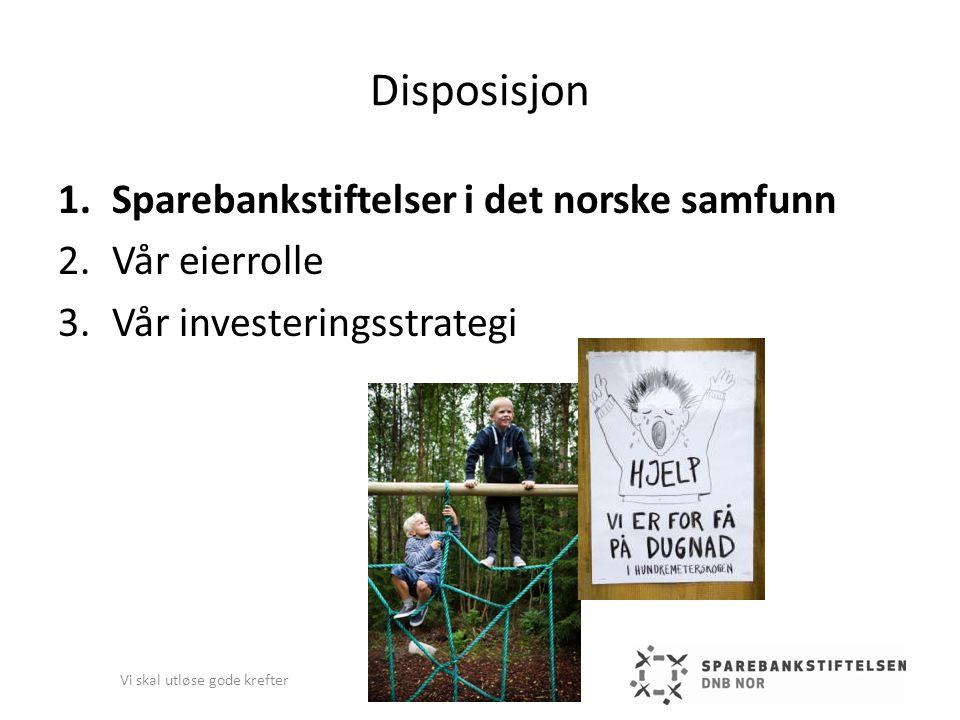 Sparebankstiftelsen DnB NOR – andre finansielle investeringer (2) Vi skal utløse gode krefter 2009