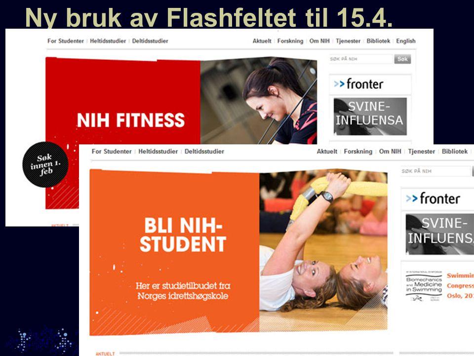 Ny bruk av Flashfeltet til 15.4.