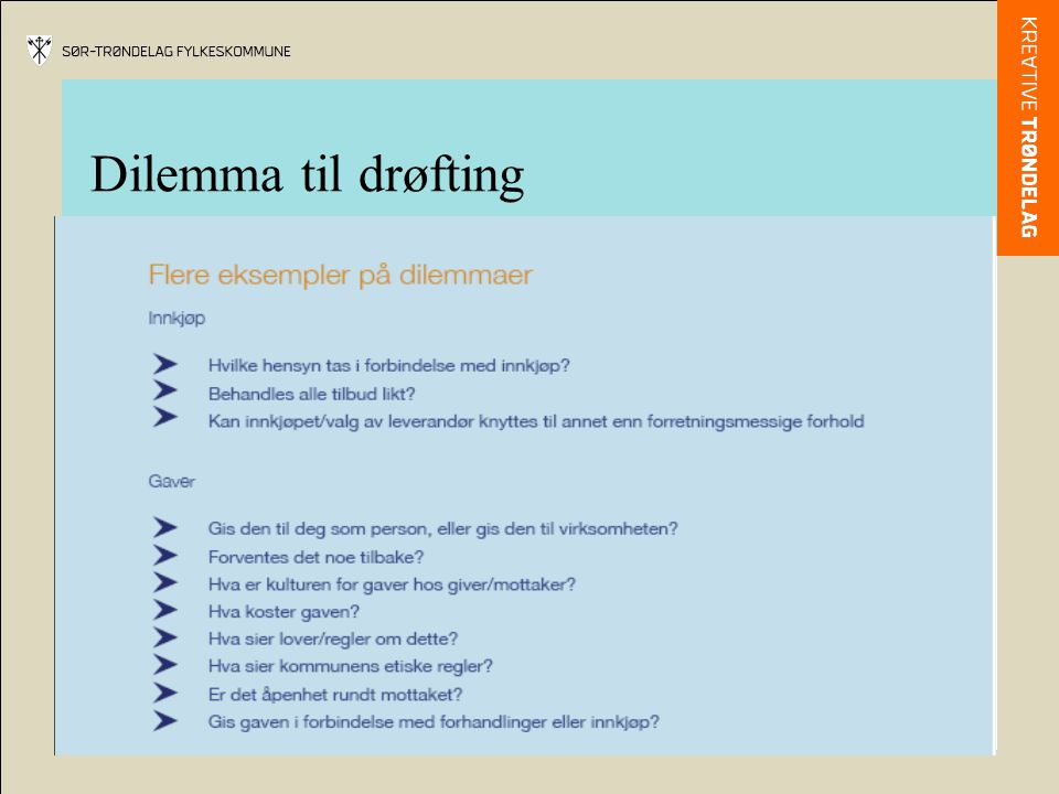 Dilemma til drøfting