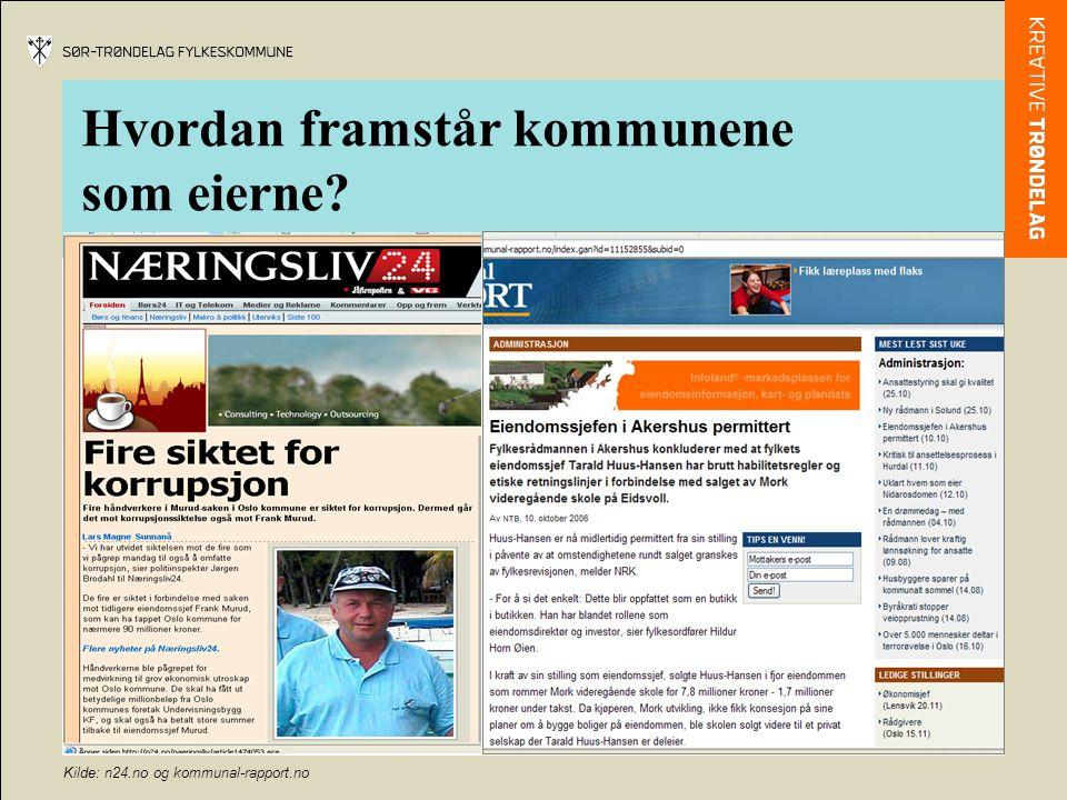 Kilder: Aftenposten.no og NRK.no Hvordan framstår disse kommunale selskapene?