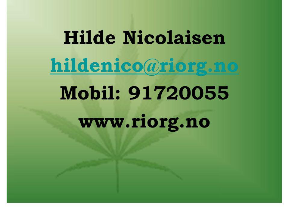 Hilde Nicolaisen hildenico@riorg.no Mobil: 91720055 www.riorg.no