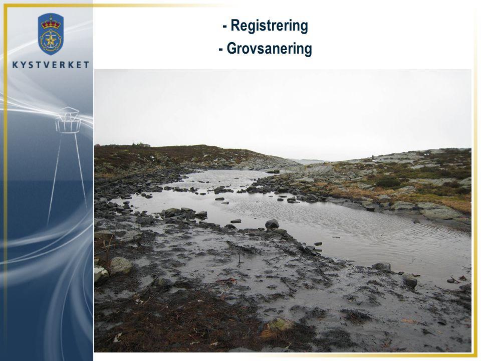 - Registrering - Grovsanering