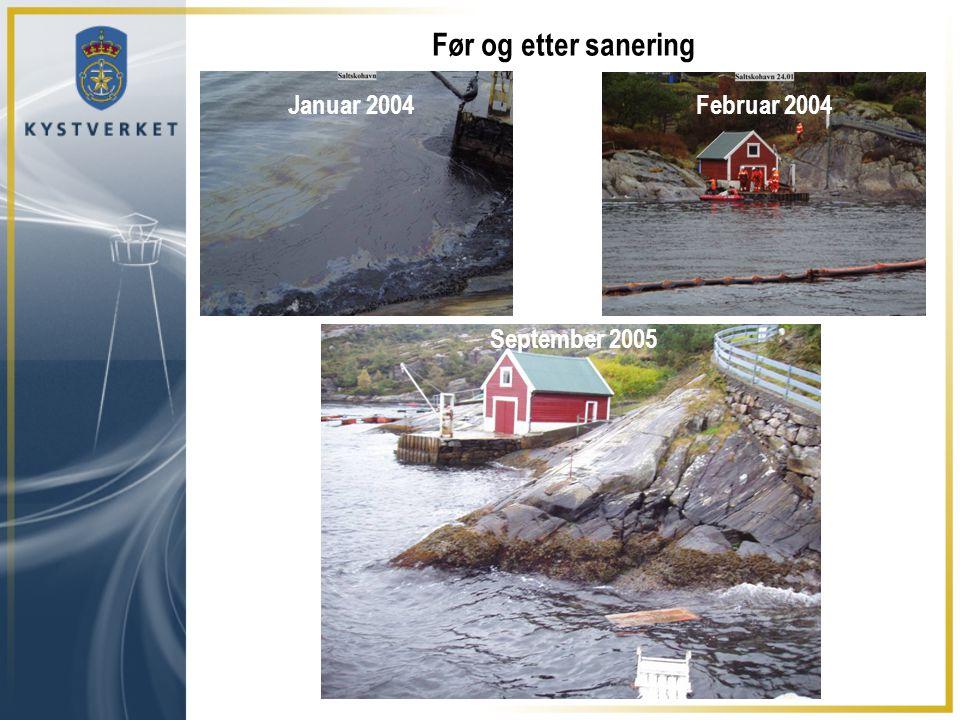 Før og etter sanering Januar 2004Februar 2004 September 2005