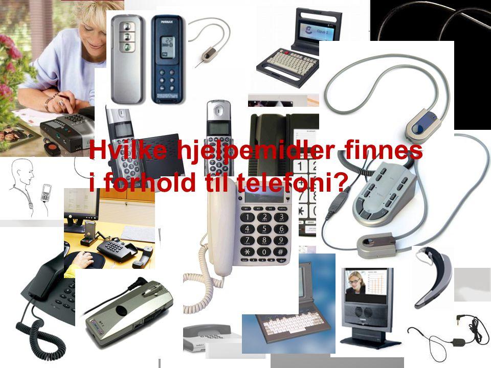 NAV, 04.07.2014Side 4 Hvilke hjelpemidler finnes i forhold til telefoni?