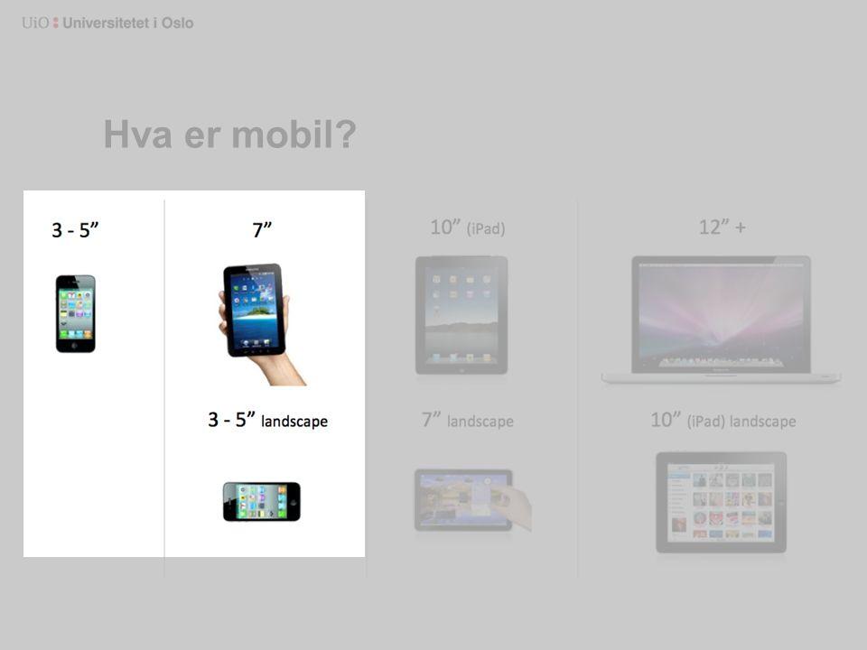 Hva er mobil?