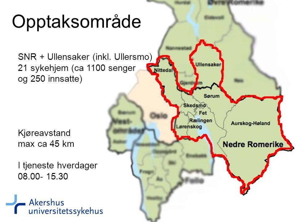 Opptaksområde SNR + Ullensaker (inkl.