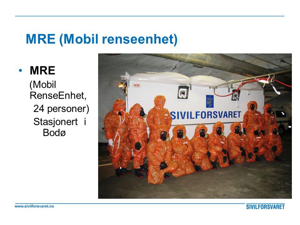 MRE (Mobil renseenhet) •MRE (Mobil RenseEnhet, 24 personer) Stasjonert i Bodø