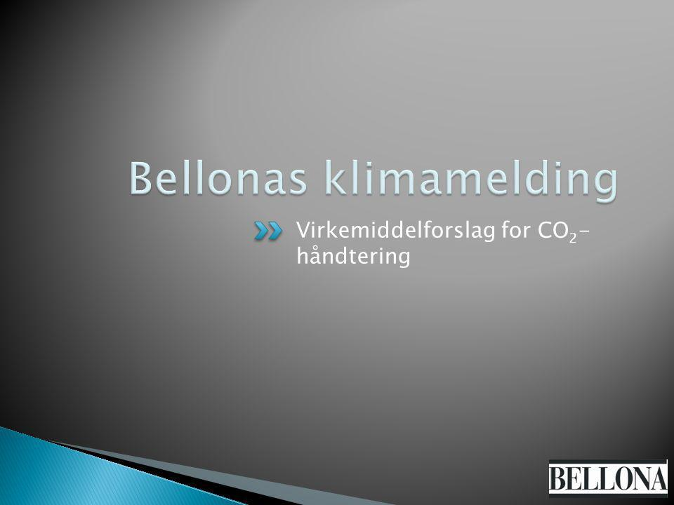 Virkemiddelforslag for CO 2 - håndtering