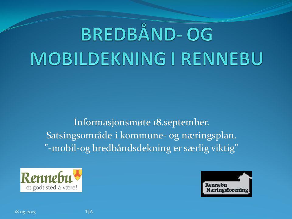 Informasjonsmøte 18.september. Satsingsområde i kommune- og næringsplan.