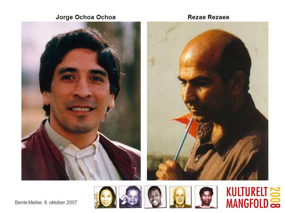 Bente Møller, 9. oktober 2007 Jorge Ochoa Ochoa Rezae Rezaee