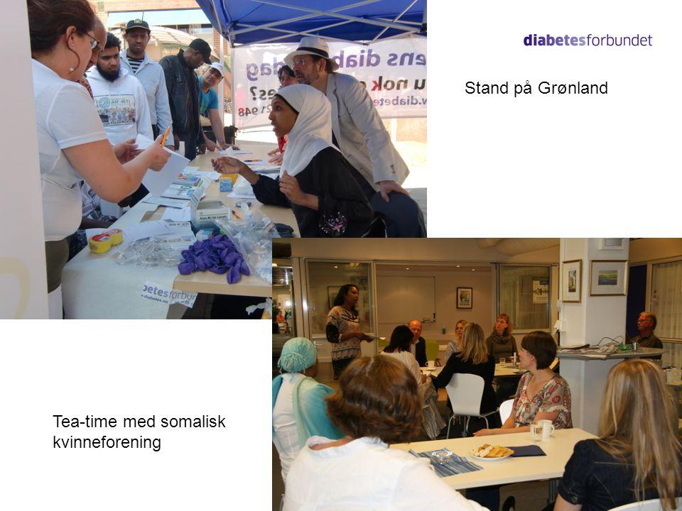11 Stand på Grønland Tea-time med somalisk kvinneforening
