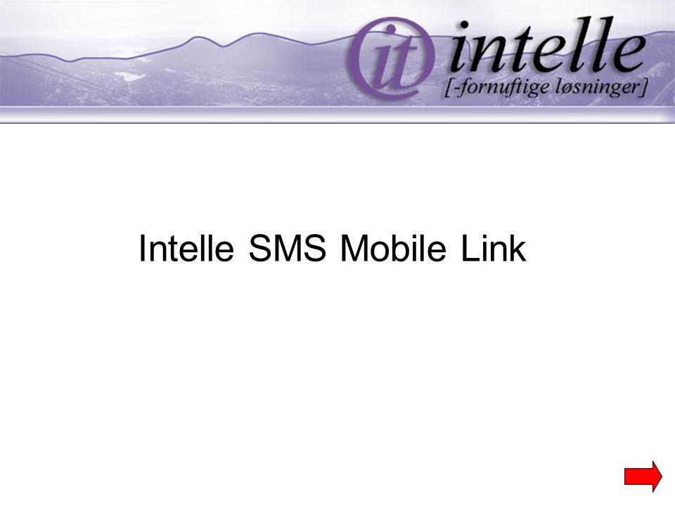 Ønsker du å motta et eventuelt svar på egen mobil telefon (Bruker) eller tilbake til SuperOffice (Sentral).