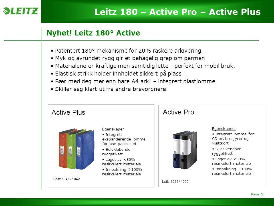 Page 6 Leitz 180 – Active Pro – Active Plus Garantert kvalitet.