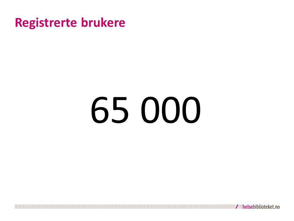 65 000 Registrerte brukere