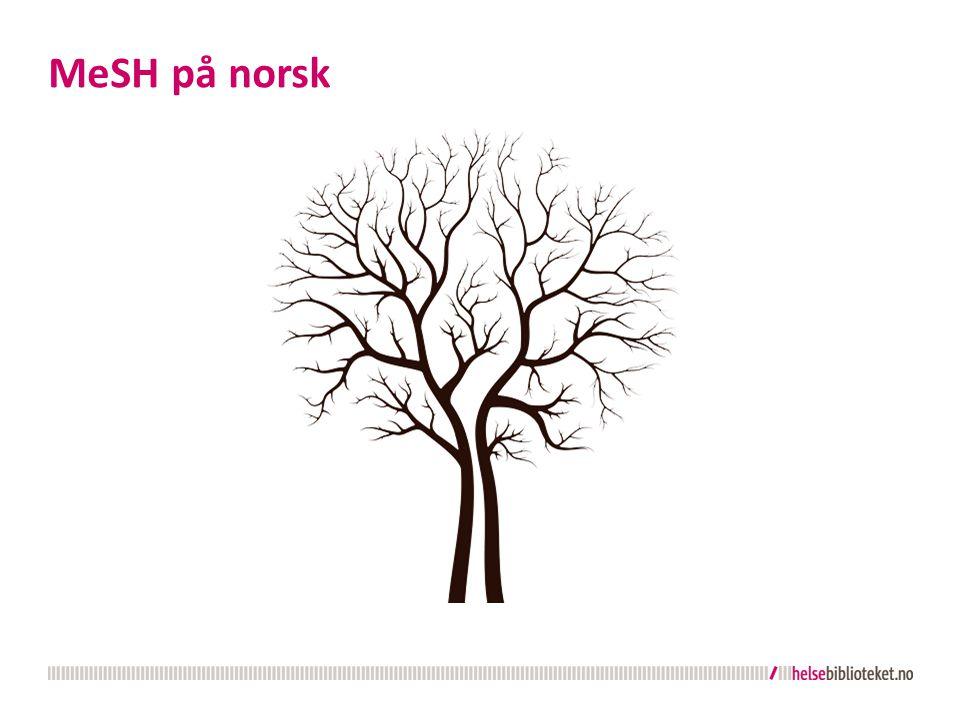 MeSH på norsk