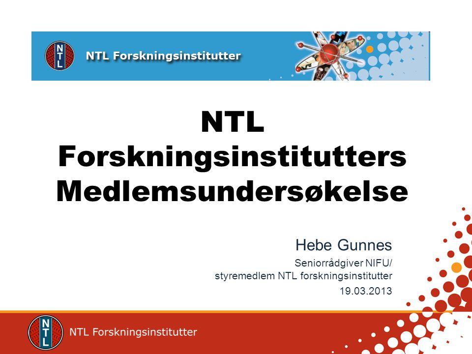 NTL Forskningsinstitutter •Landsforening som ble startet i 1981 •Ca.