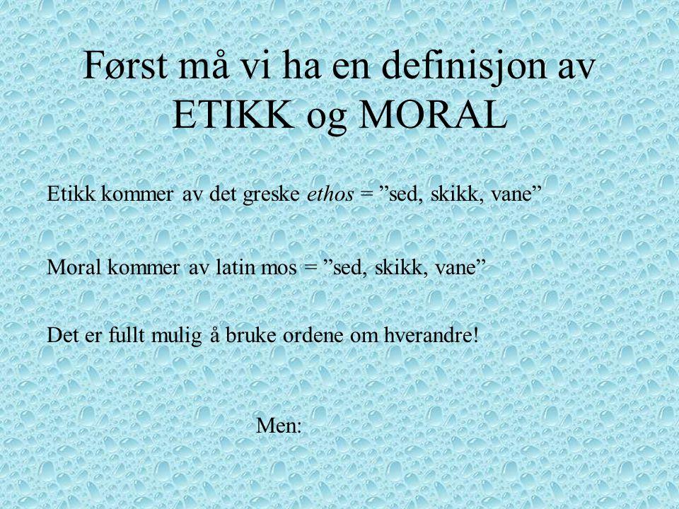 Etiske modeller - hva er det? Jeg har fått i oppdrag og gi en innføring i : Gå Ut Senteret, 15.November 2001 – Bjørge Arvid Johansen