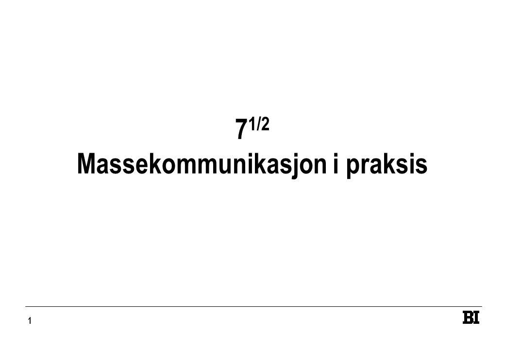 1 7 1/2 Massekommunikasjon i praksis