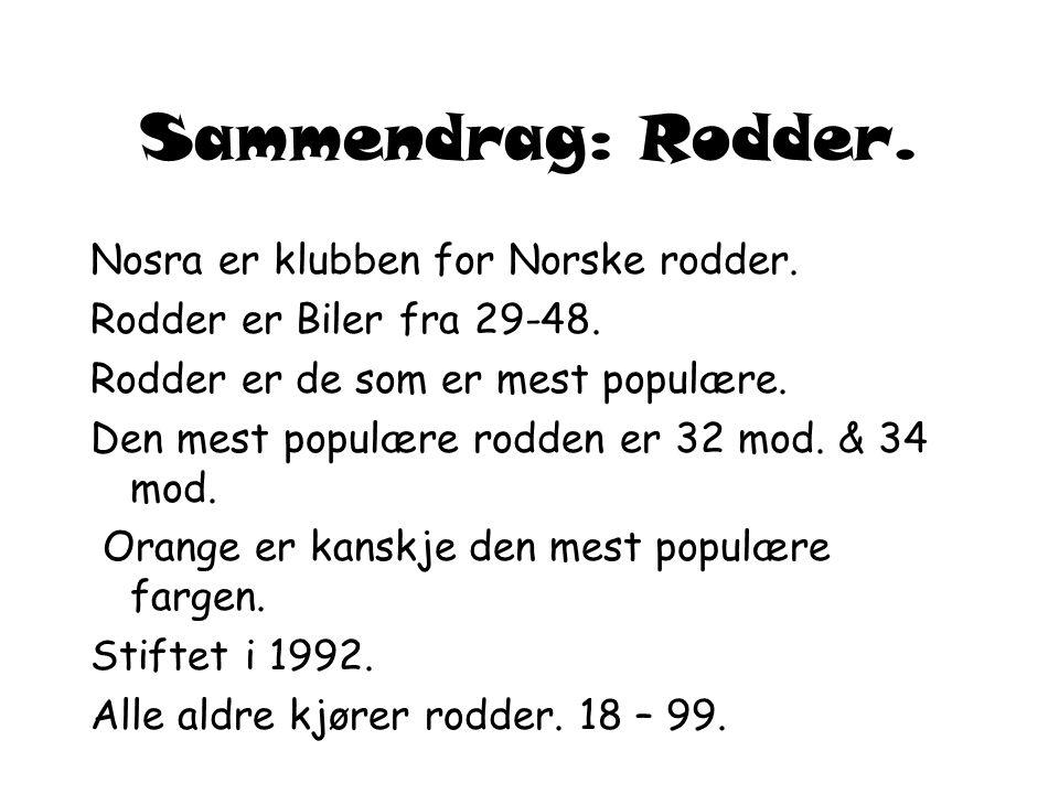 Sammendrag: Rodder.Nosra er klubben for Norske rodder.