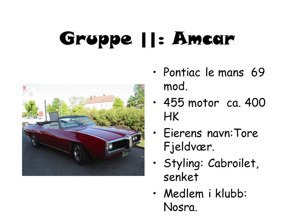 Gruppe ||: Amcar •Pontiac le mans 69 mod.•455 motor ca.