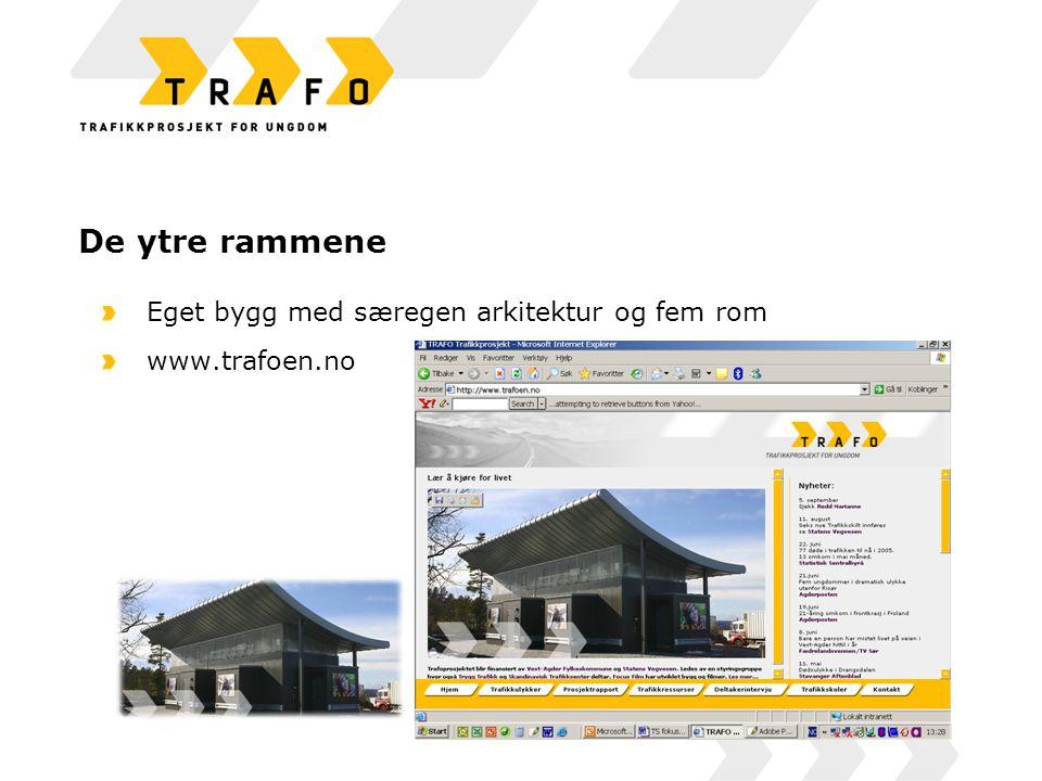 De ytre rammene Eget bygg med særegen arkitektur og fem rom www.trafoen.no