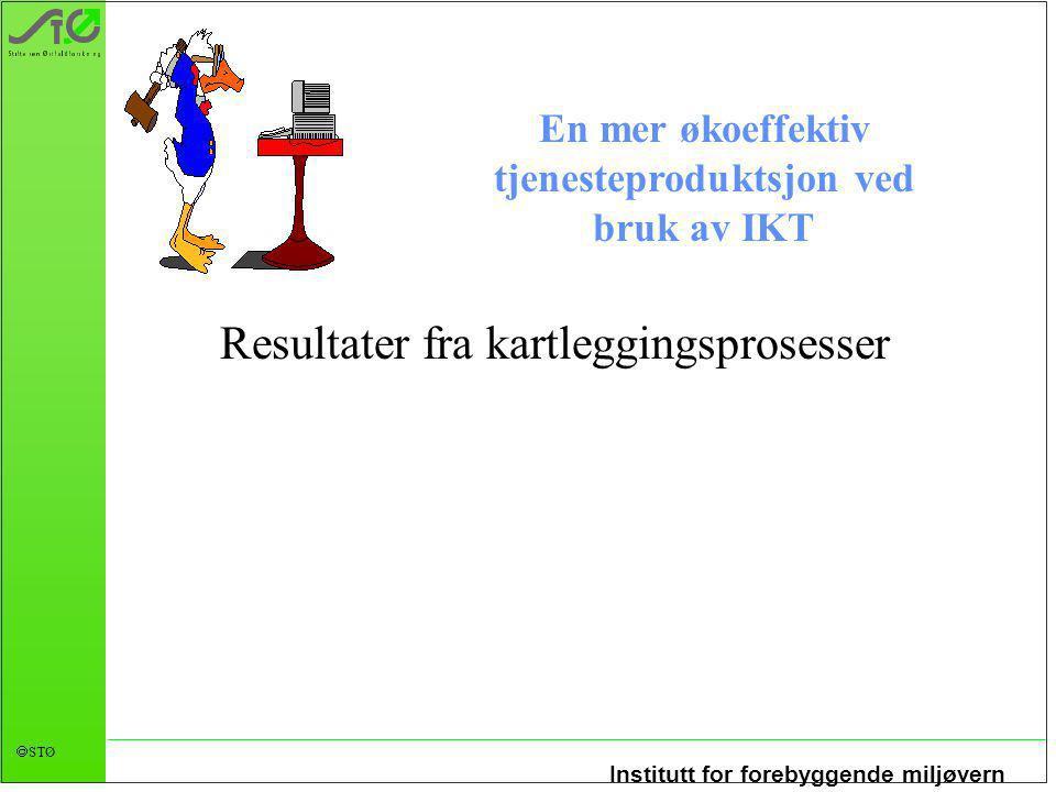 Institutt for forebyggende miljøvern  STØ Prosjekt-web Verktøy også for å få mer økoeffektive prosjekter?