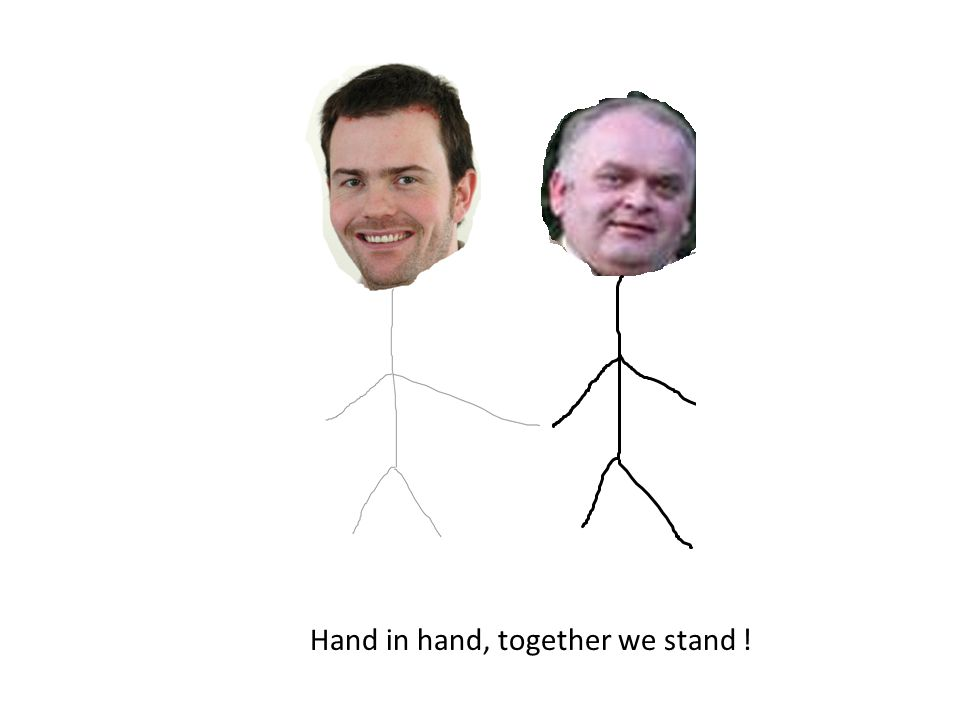 Hand in hand, together we stand !