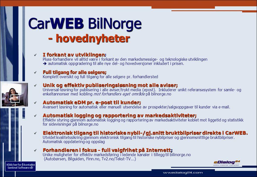 CarWEB BilNorge - eksempel : publisering Automatisk import.