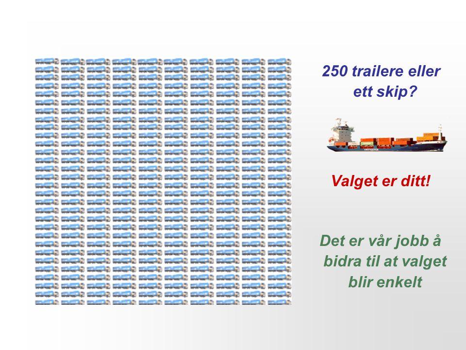 250 trailere eller ett skip Valget er ditt! Det er vår jobb å bidra til at valget blir enkelt