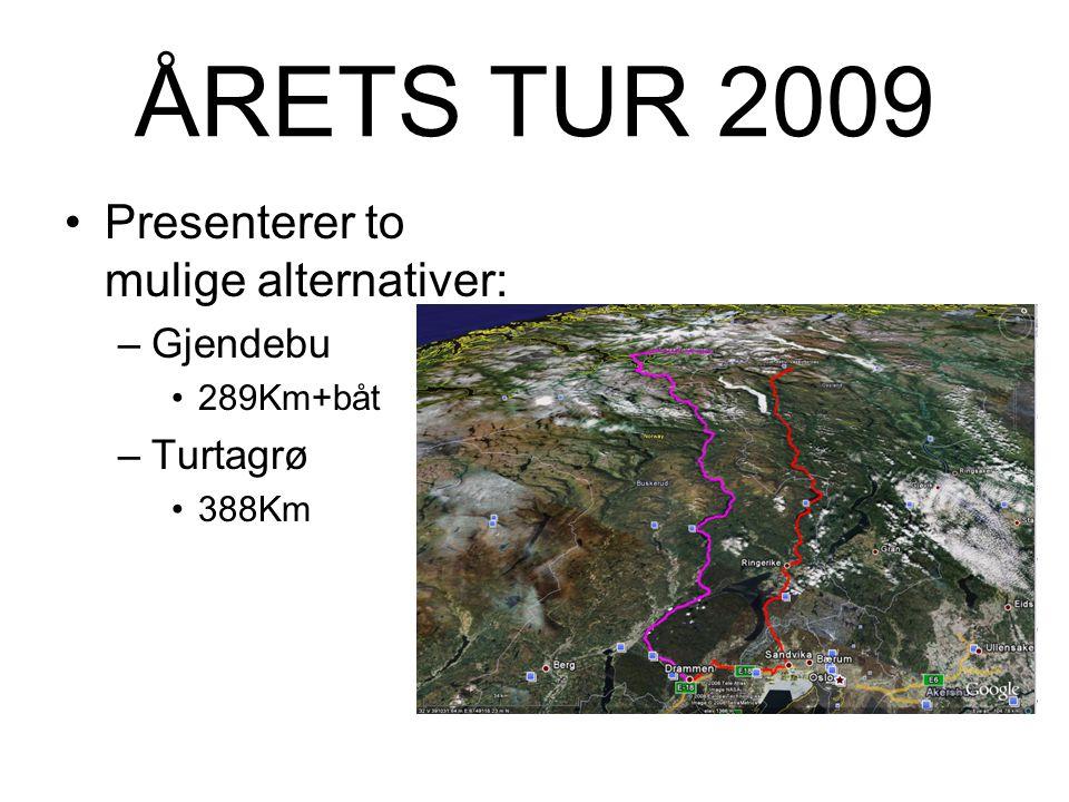 Forslag ÅRETS TUR 2009 ….for menn som vil no` (igjen...)