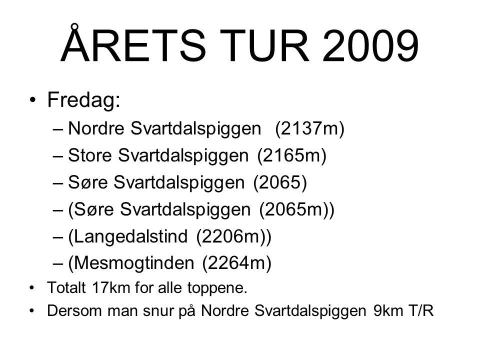 ÅRETS TUR 2009 •Gjendebu –Gjendebu er DNT (Den Norske Turistforening) si eldste hytte. –Må ta båt over Gjende til og fra Gjendesheim