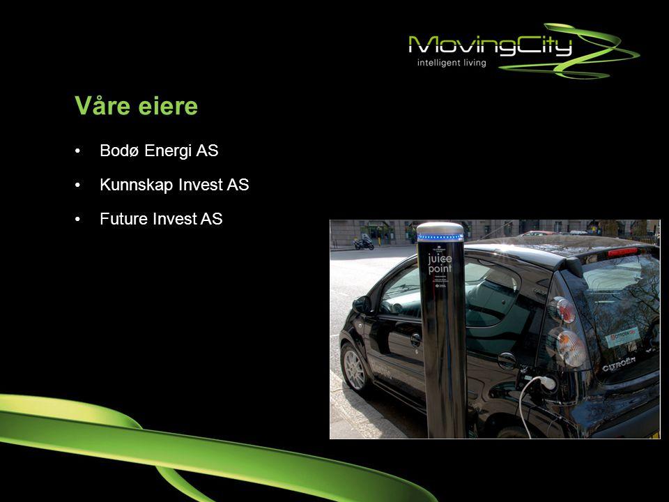 Våre eiere •Bodø Energi AS •Kunnskap Invest AS •Future Invest AS