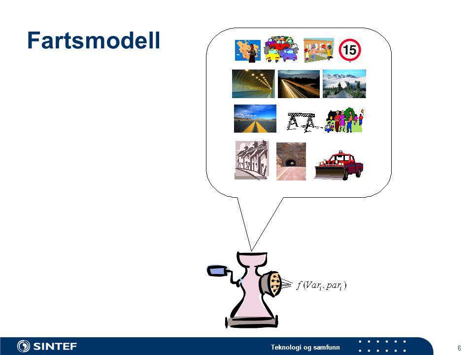 Teknologi og samfunn 6 Fartsmodell