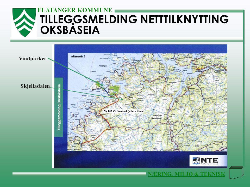 FLATANGER KOMMUNE NÆRING, MILJØ & TEKNISK TILLEGGSMELDING NETTTILKNYTTING OKSBÅSEIA Vindparker Skjellådalen