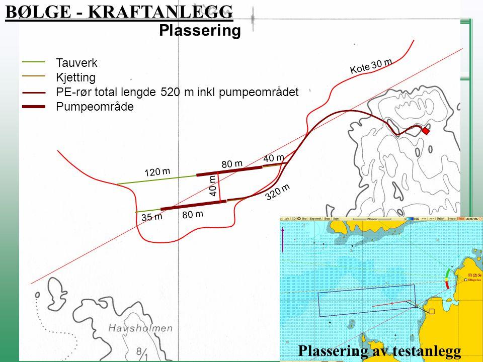 FLATANGER KOMMUNE NÆRING, MILJØ & TEKNISK Kote 30 m 120 m 80 m 35 m 320 m 40 m 80 m Tauverk Kjetting PE-rør total lengde 520 m inkl pumpeområdet Pumpe