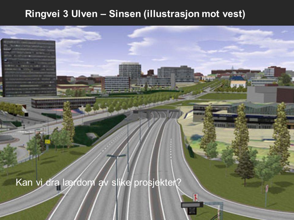 Ringvei 3 Ulven – Sinsen (illustrasjon mot vest) Kan vi dra lærdom av slike prosjekter