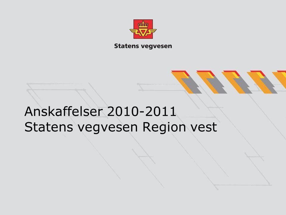 Handlingsprogram investering på riksveger Region vest.