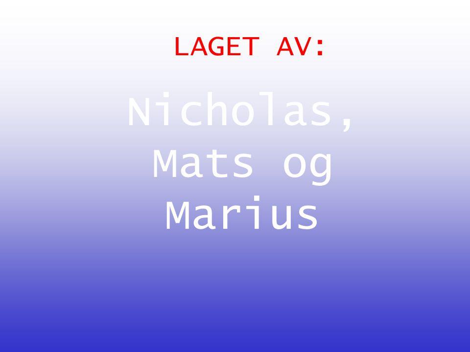 LAGET AV: Nicholas, Mats og Marius