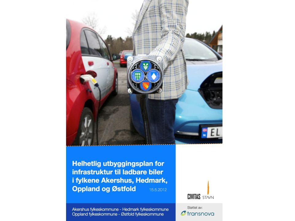 Infrastruktur for ladbare biler i Hedmark, Oppland, Akershus og Østfold Hovedmål - kortversjon: sørge for at det blir etablert infrastruktur som gjør at ladbare biler er et praktisk sett like godt alternativ som fossilt drevne biler, og kan brukes ved de aller fleste transportbehov der kjøretøy benyttes for så mange som mulig i området
