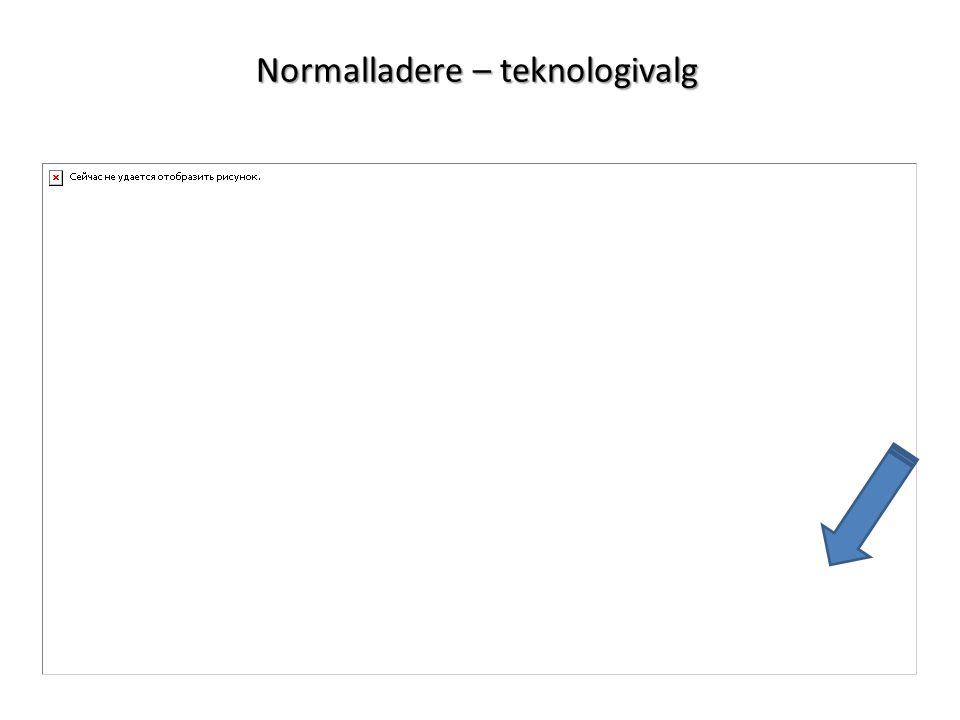 Normalladere – teknologivalg