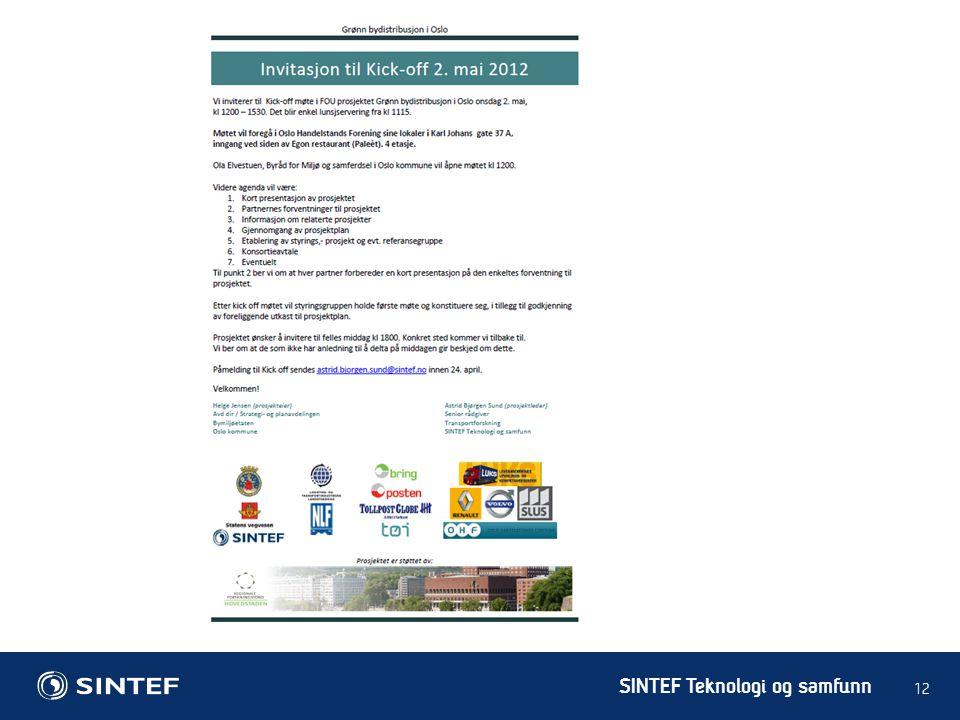 SINTEF Teknologi og samfunn 12