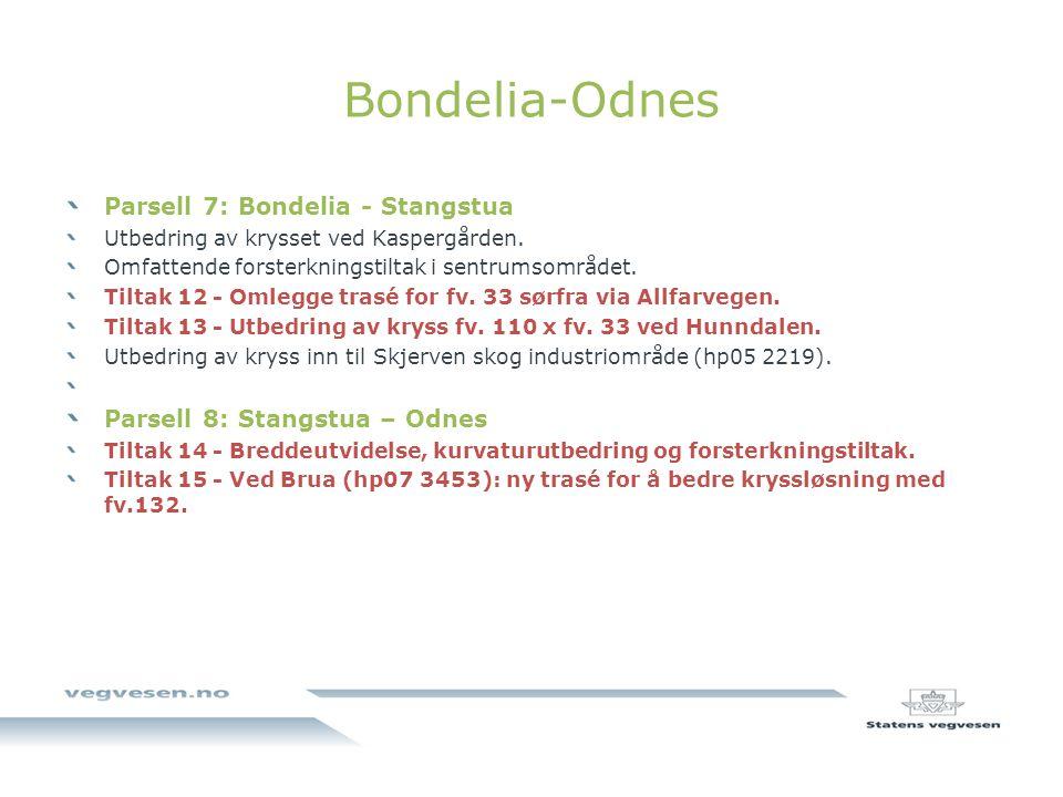 Bondelia-Odnes Parsell 7: Bondelia - Stangstua Utbedring av krysset ved Kaspergården.