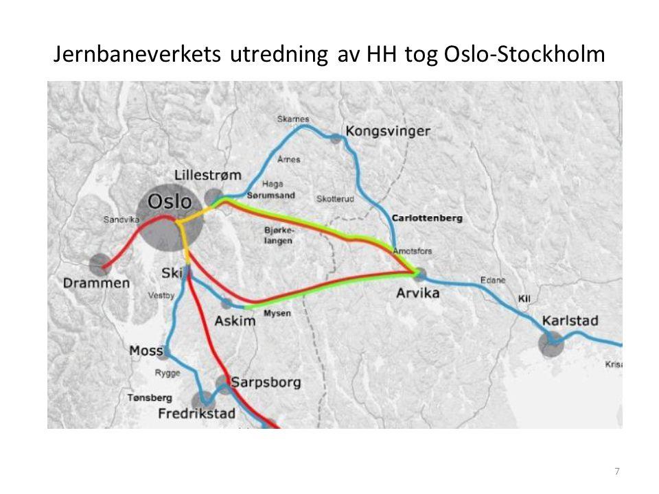 Jernbaneverkets utredning av HH tog Oslo-Stockholm 7