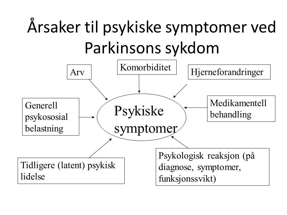 ANGST ved Parkinsons sykdom • Angst forekommer hyppigere ved PS • Angst er ubegrunnet opplevelse av frykt • Angst kan komme som anfall eller som en diffus vedvarende opplevelse • Kan noen ganger oppleves som sterke kroppslige plager (pustebesvær, opplevelse av å nesten besvime etc.) uten opplevelse av frykt • Innsikt i problemet kan gjøre det lettere å takle • Noen ganger det det aktuelt å gi medisiner