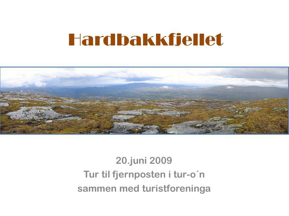 Hardbakkfjellet 20.juni 2009 Tur til fjernposten i tur-o´n sammen med turistforeninga