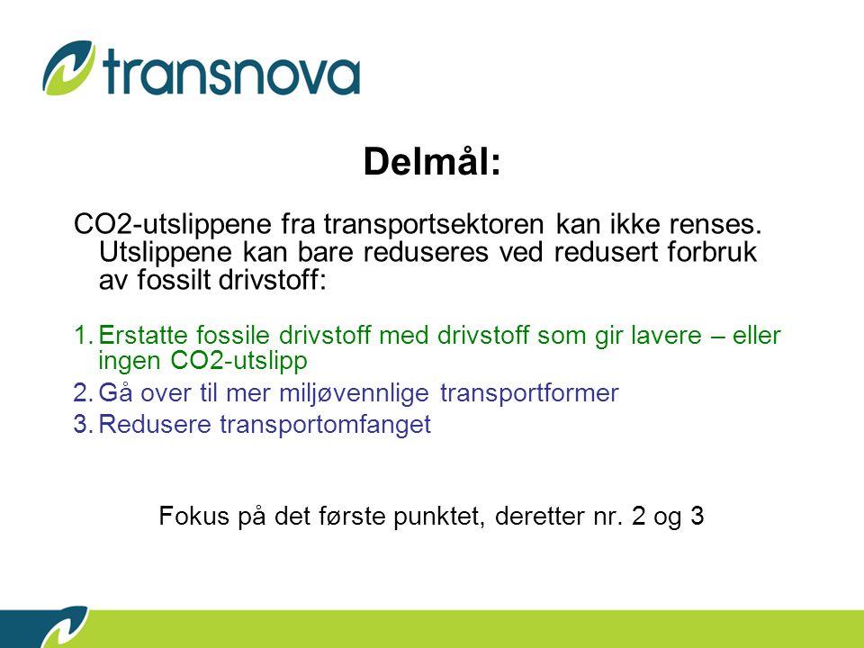 Delmål: CO2-utslippene fra transportsektoren kan ikke renses.