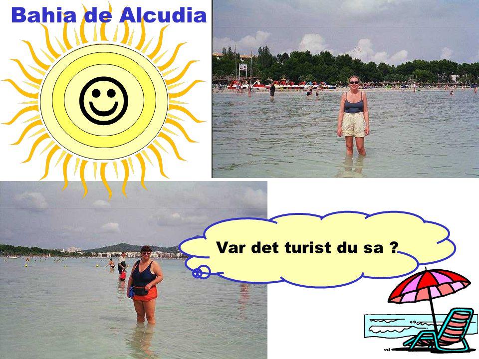 Var det turist du sa  Bahia de Alcudia